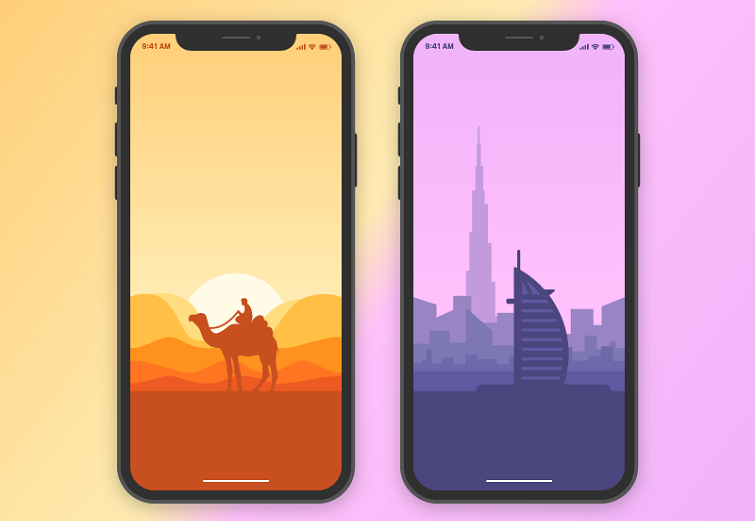 Arabic World App Background