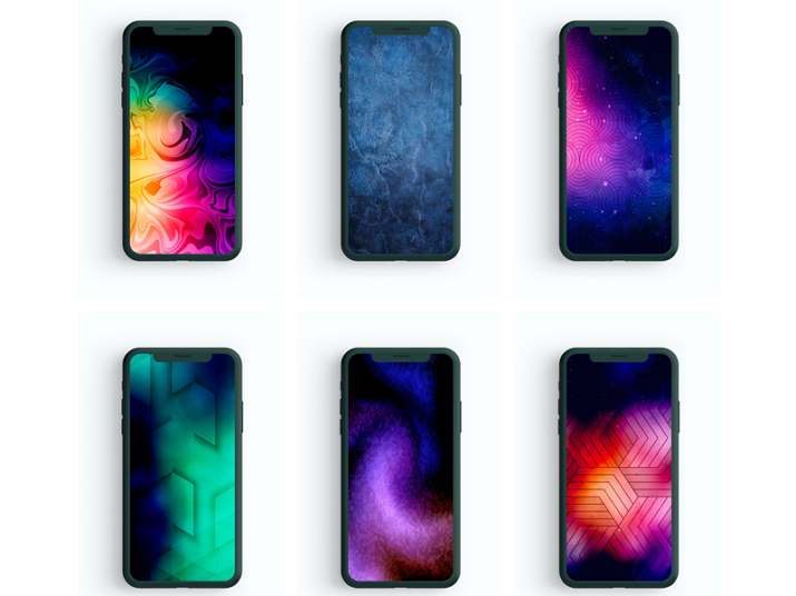 Abstract Mobile App Background