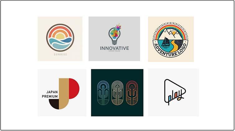 色彩丰富的logo