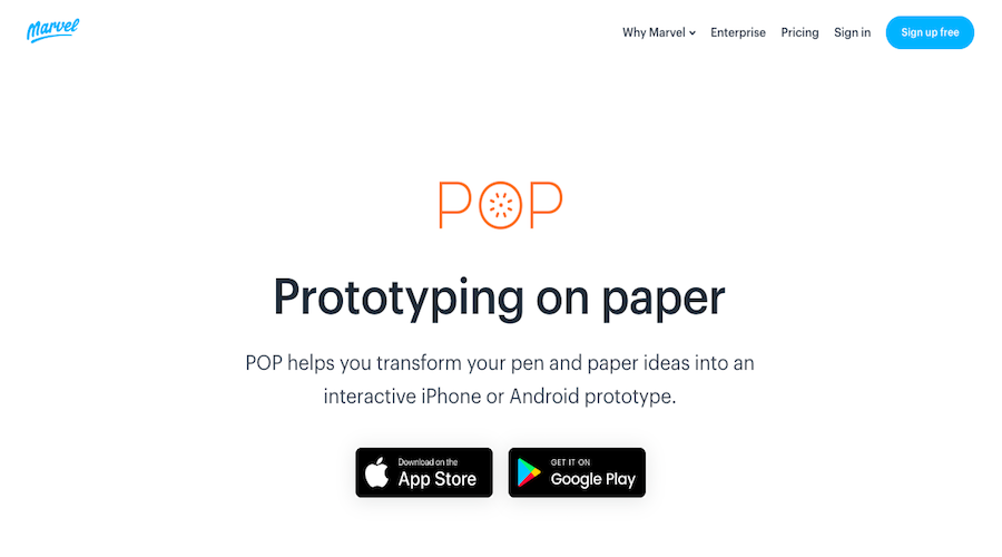 1.Pop (Prototyping on Paper)