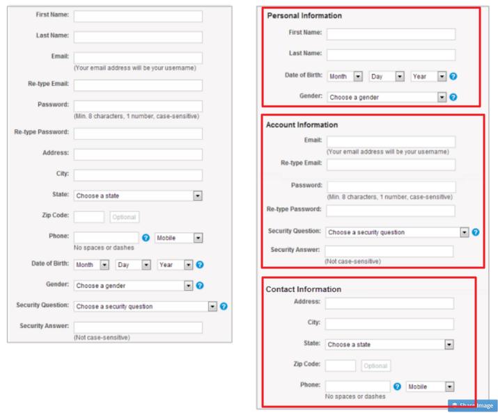 表单设计注意布局整体结构和布局