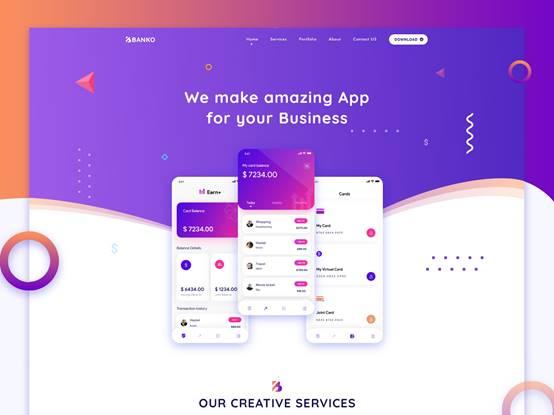 Banko App Landing Page