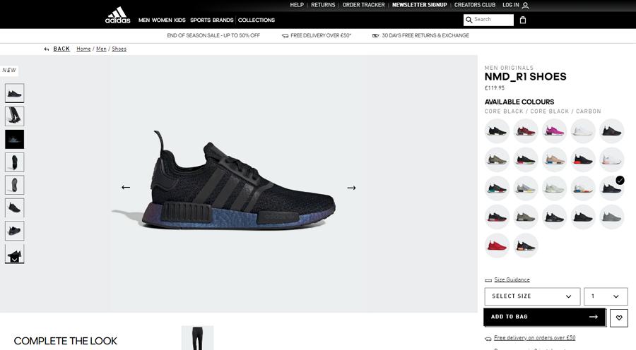 Adidas Shoe Website