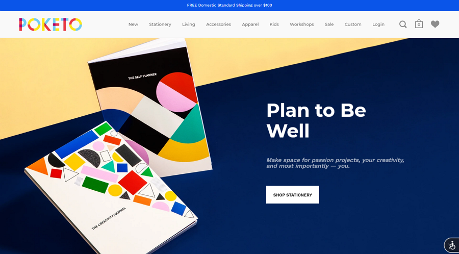 Product Landing Page with Vibrate Colors