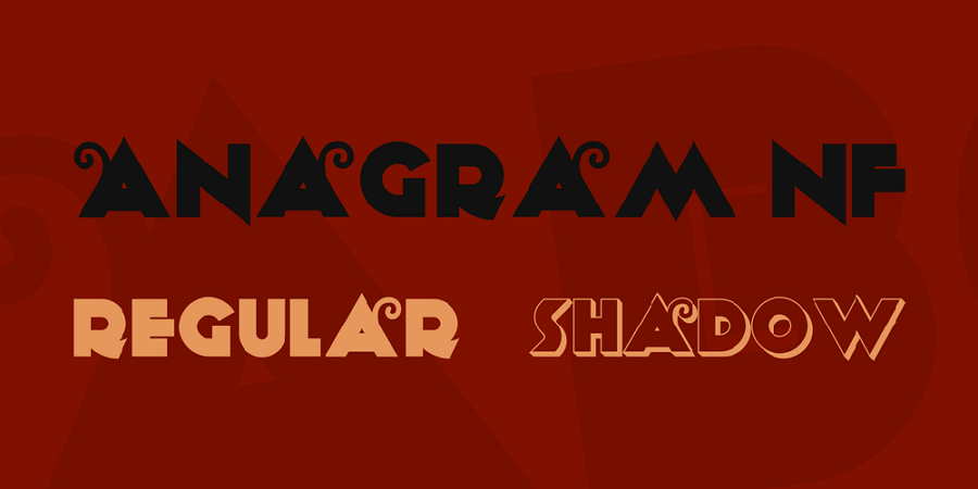 Free Anagram Font
