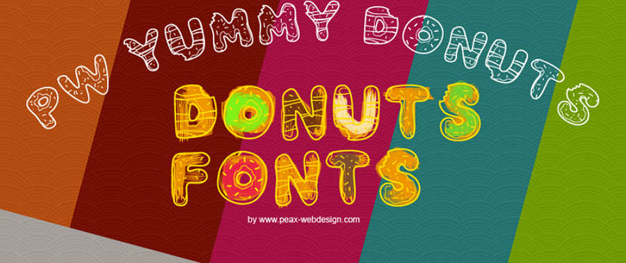 Free Yummy Donuts Font