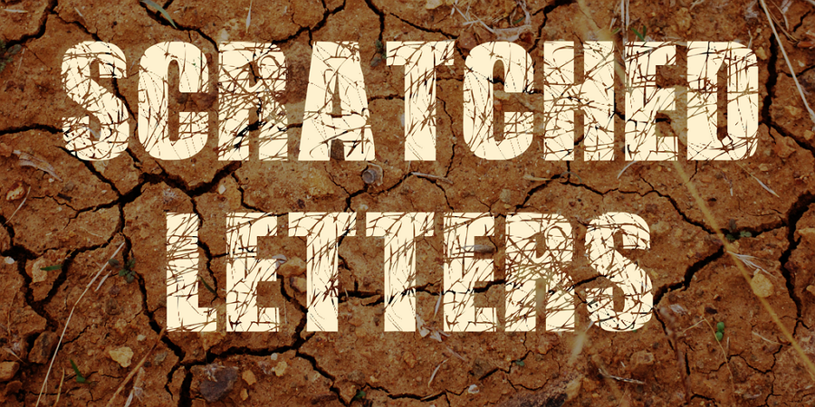 Free Scratched Letter Font