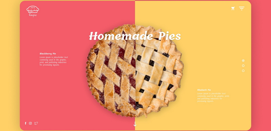 Online Pie Delivery Website
