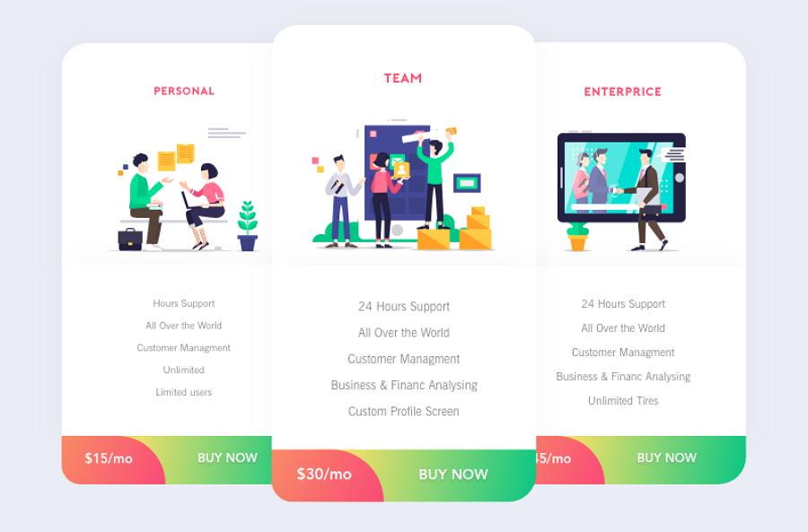 Pricing Page Free UI Kit