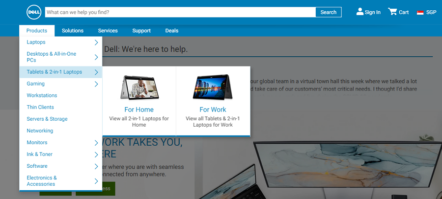 Dell Computer Website