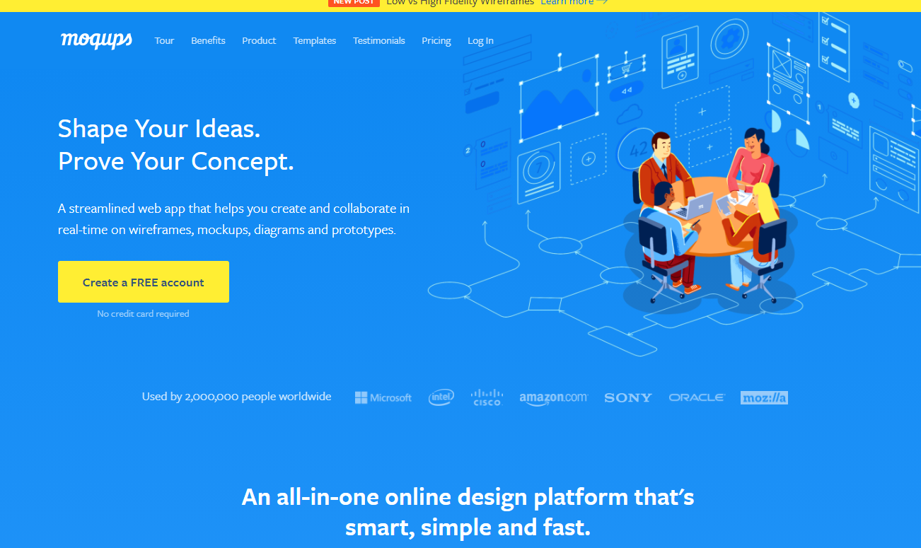 Moqups,在线模型、线框和协作工具