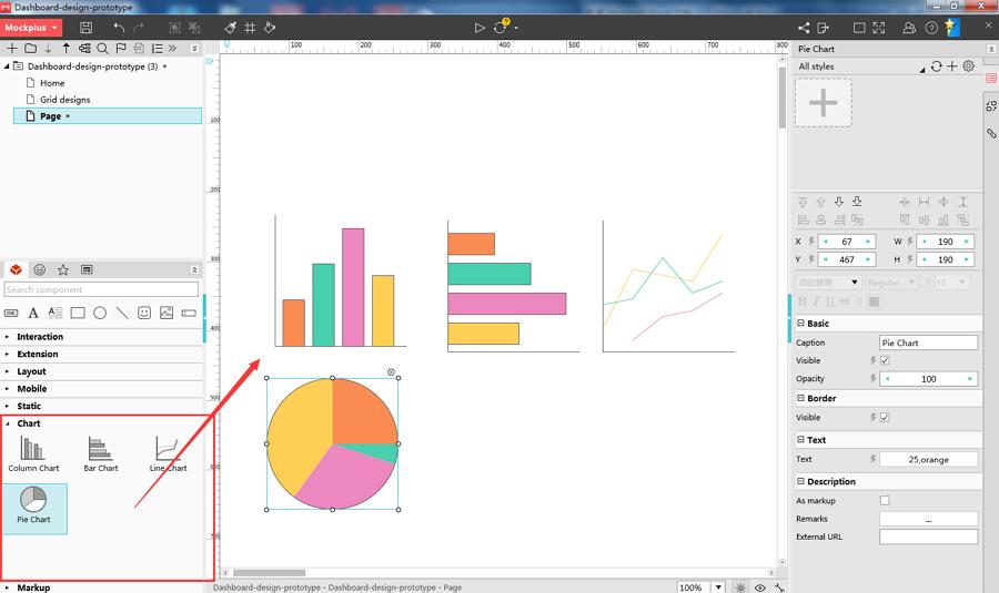 Mockplus Chart Components