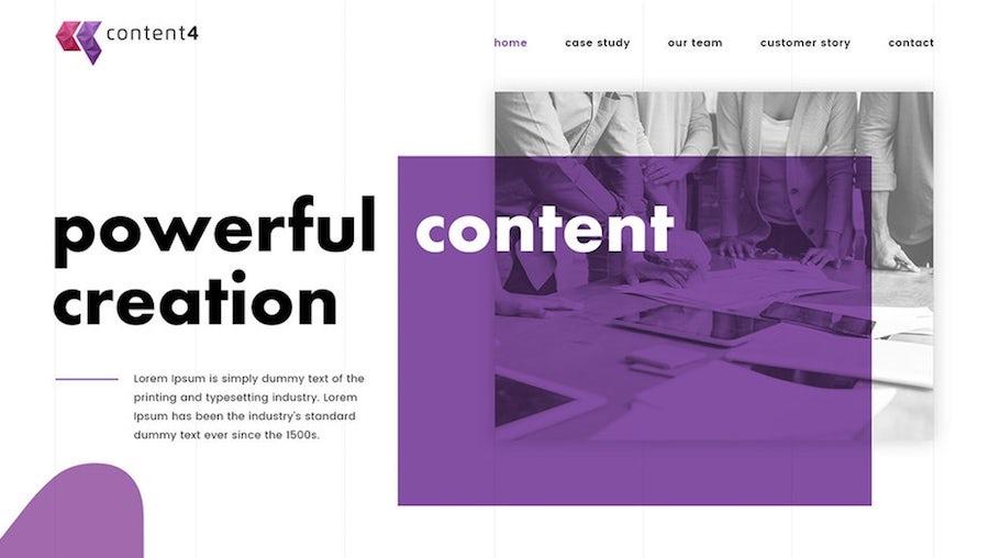 提取原色网页设计案例