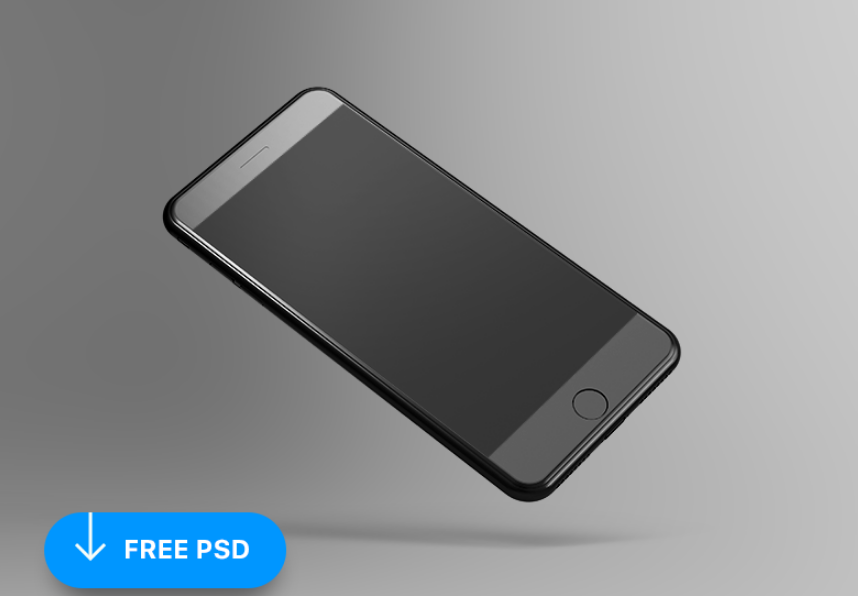 Free Tilted iPhone 8 Mockup