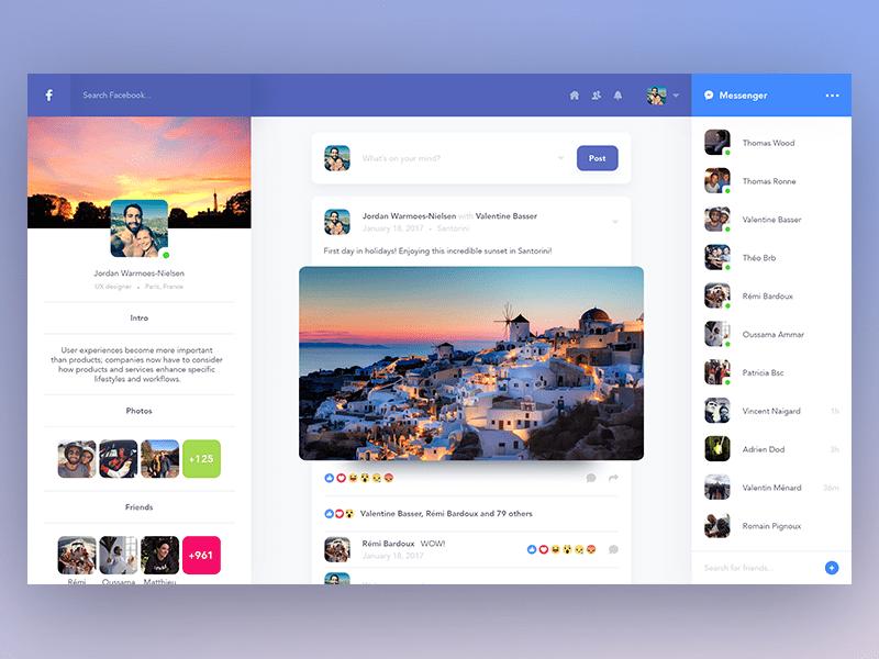 Facebook个人资料重设计