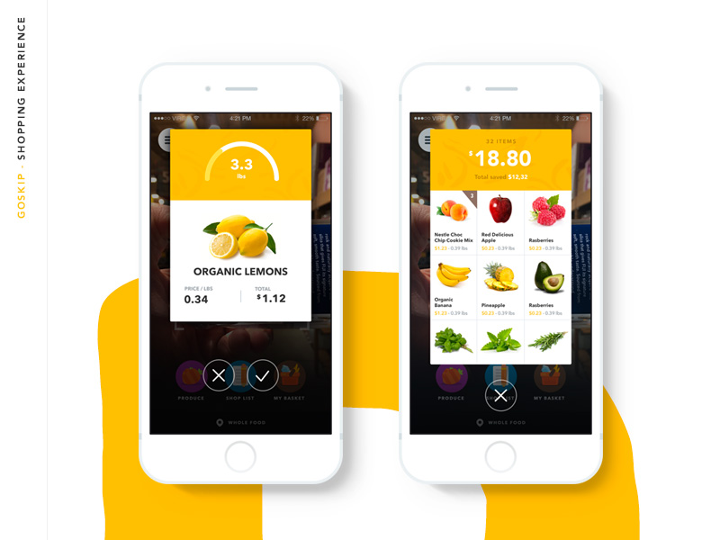iOS 8/9 的食品APP设计