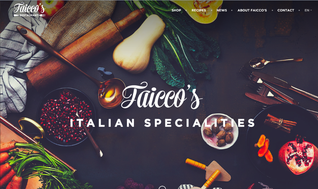 意大利餐厅网站界面设计