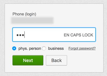 提示用户:大写锁定已打开