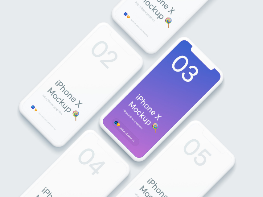 Simple iPhone X Mockups