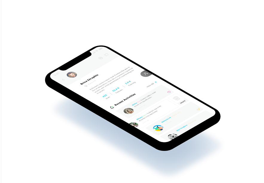 Recent Activities. iPhone X mockup #Freebies