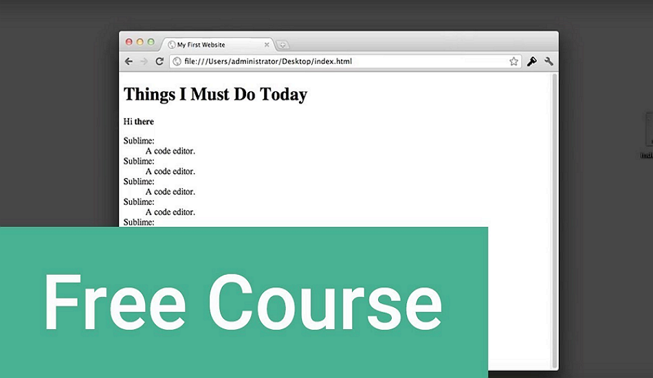 HTML free courses