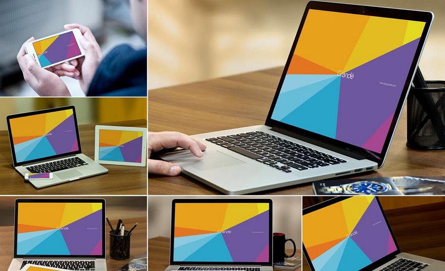 MacBook Mockups PSD