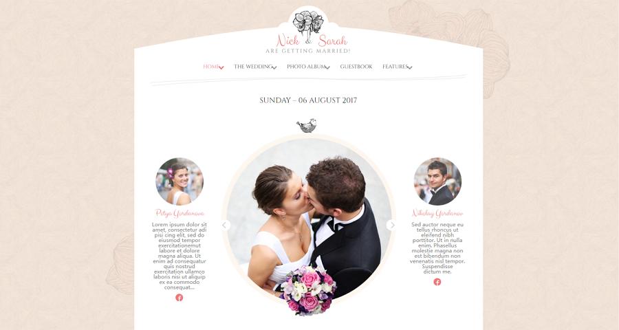 Responsive HTML5 Wedding Website Template