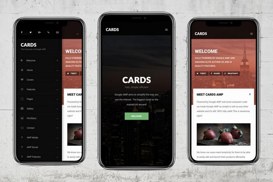 AMP Cards - Google AMP 应用