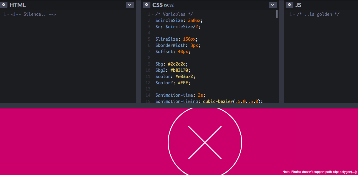 CSS3 Only Hamburger by Dawid Krajewski