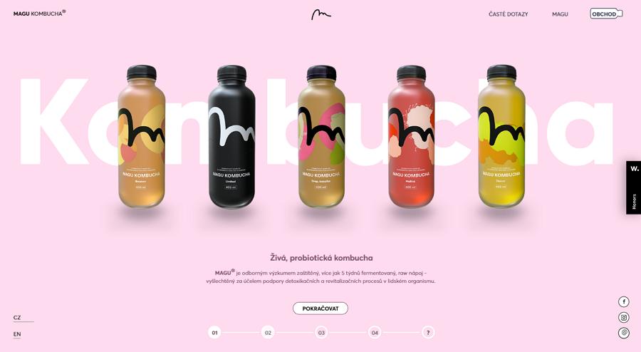 Magu Kombucha Minimalist Ecommerce Website