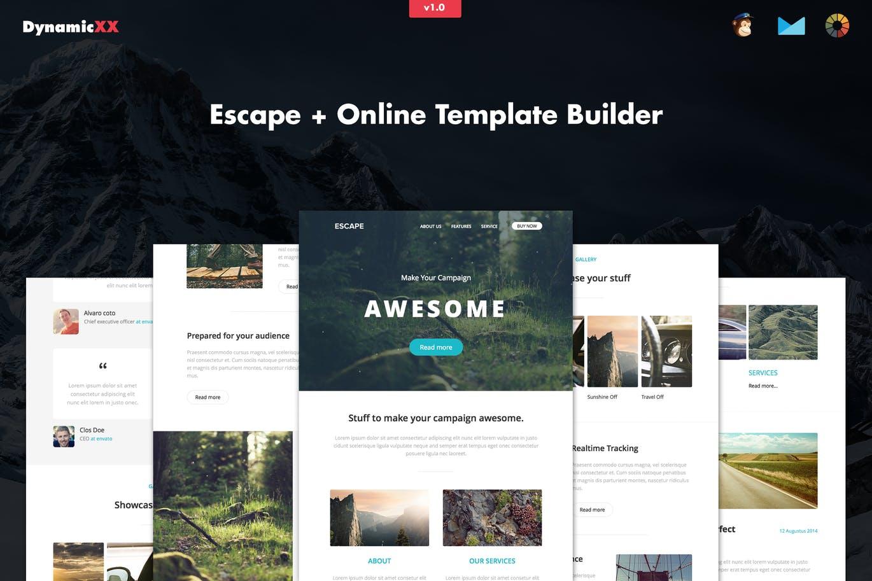 Escape– PSD响应式电子邮件模板网页设计