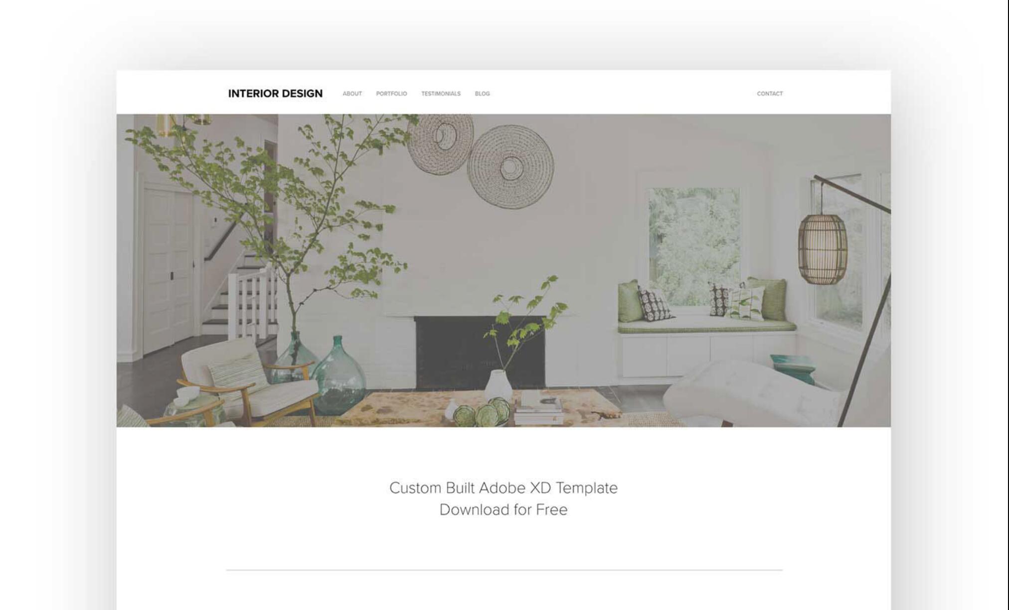 AdobeXD 网页模板