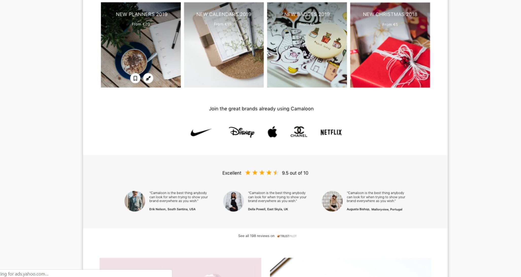 Stickers– 响应式电子商务网页首页设计