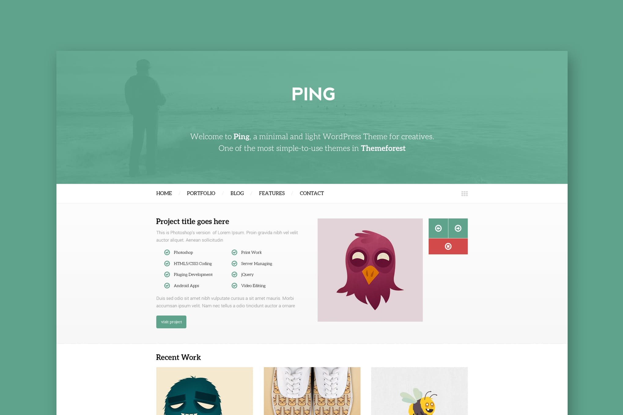 Ping- 响应式HTML网页模板