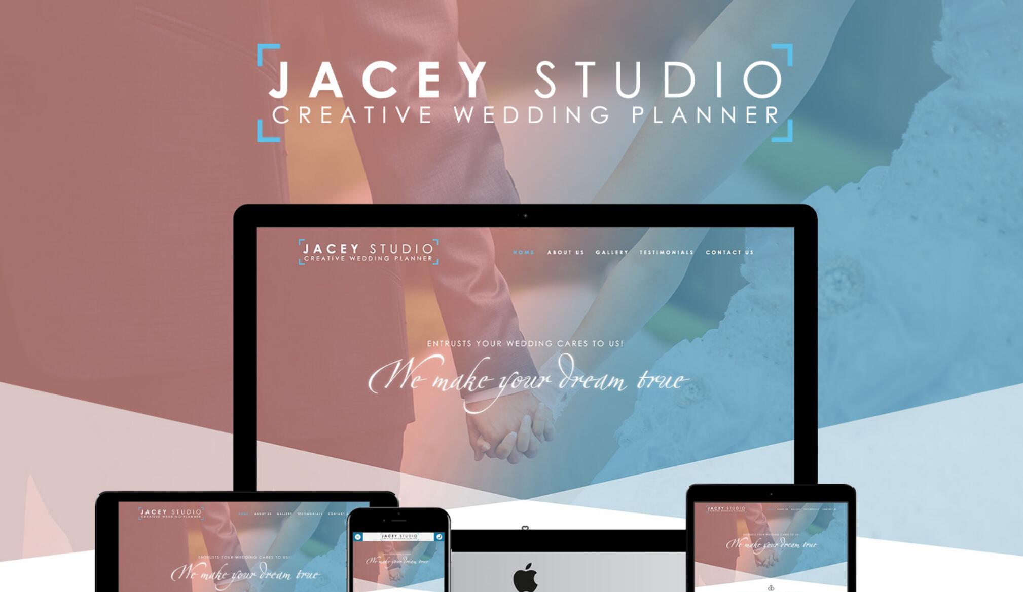 JaceyStudio - 创意婚礼策划师网站设计