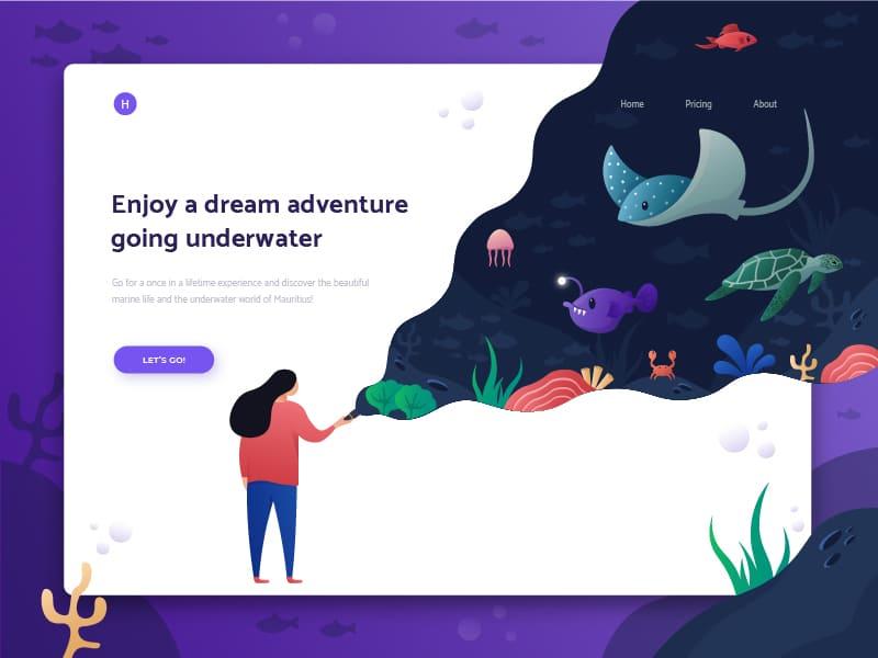 Sea adventure website