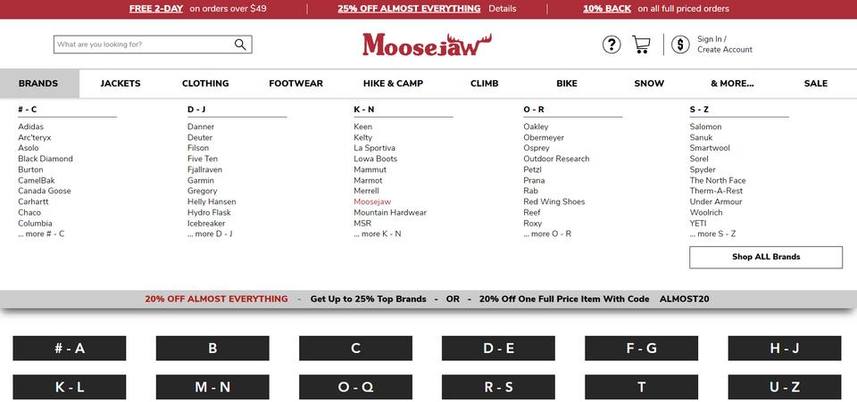 mockplus 原型例子-网站的mega menu