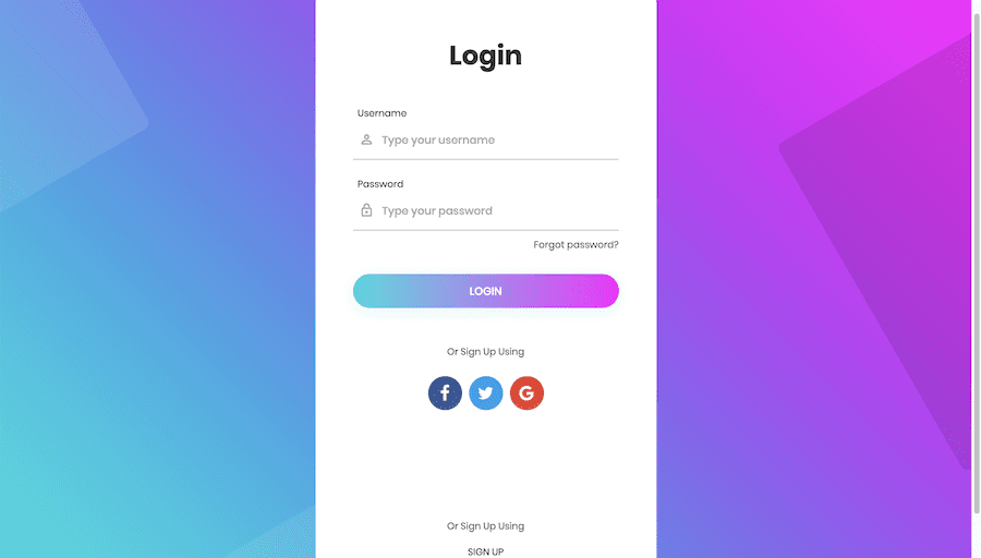 Beautiful login page