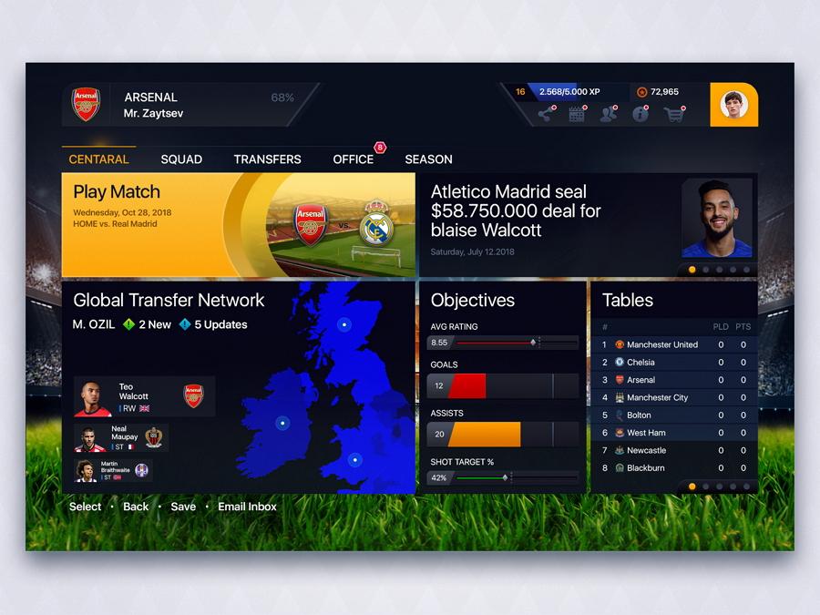 football-dashboard-game