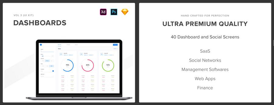 Web SaaS Dashboard UI kit