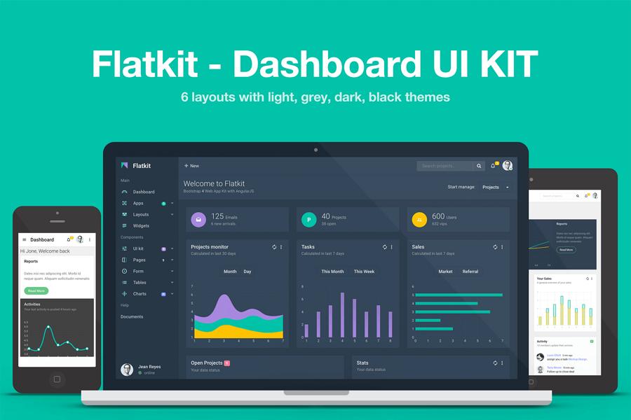 Flatkit-dashboard-ui-kit