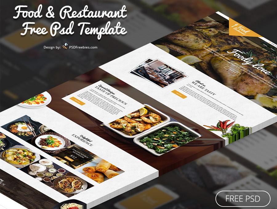 Food&Restaurant PSD模板