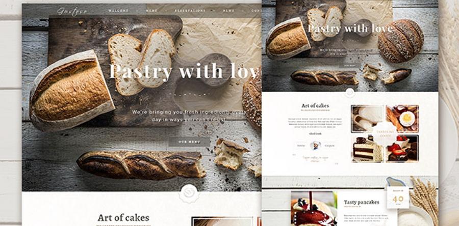 Bakery - 响应式PSD网站模板