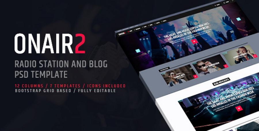 ONAIR2 -电台PSD网站模板