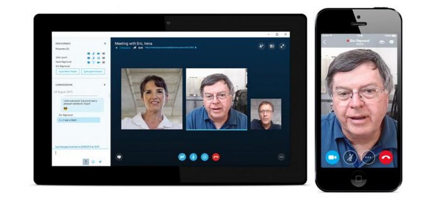 Skype视频聊天界面