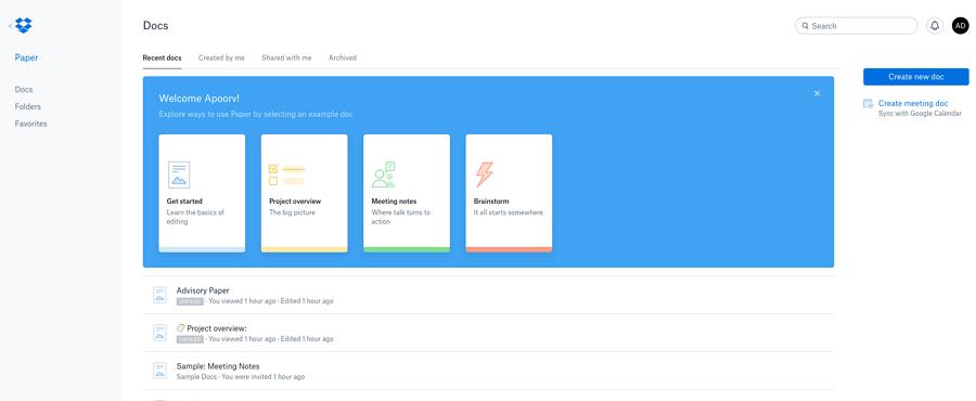 DropBox Paper在线文档协作和管理的平台