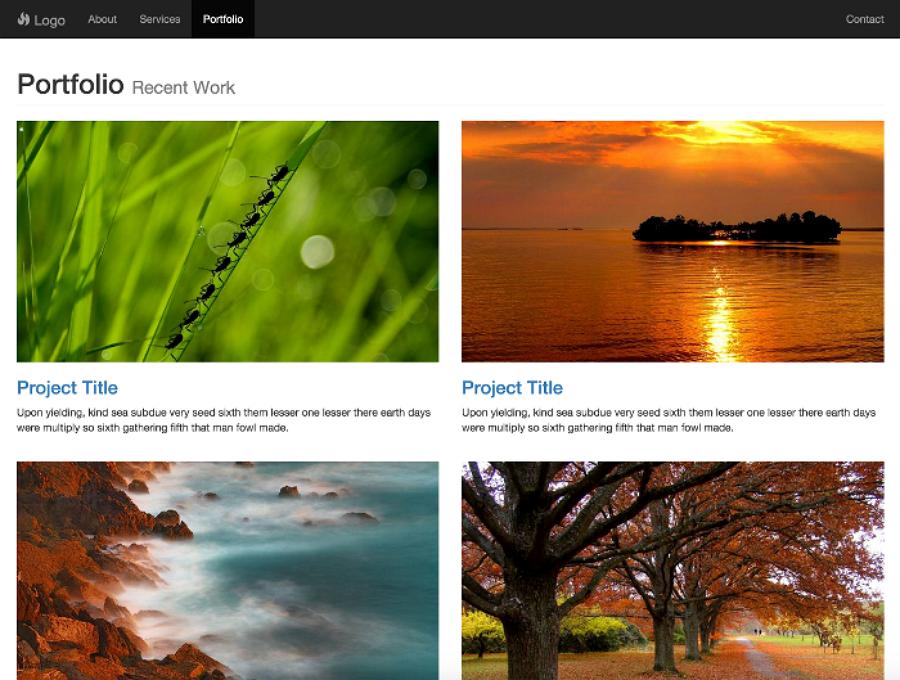 Portfolio - 简单的HTML作品集模板