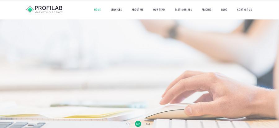 Profilab - HTML登陆页面模板