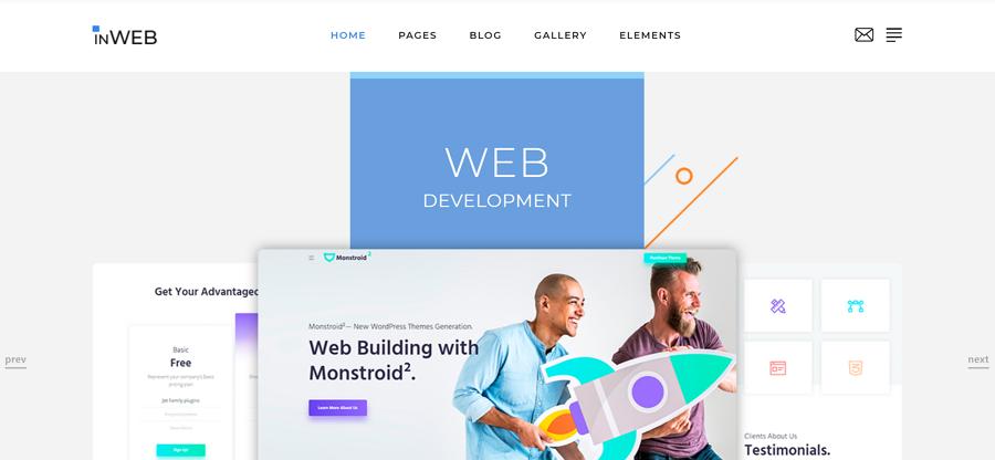 InWeb - 多页HTML5网站模板