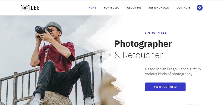 Lee - 最轻量的HTML5摄影师作品集模板